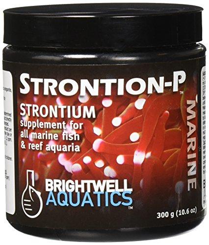 Dry Strontium Supplement - Brightwell Aquatics Strontion-P Dry Strontium Supplement, 300 Grams