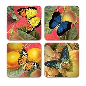 Studio Oh! Coasters, 12 Count, Bountiful Fruit