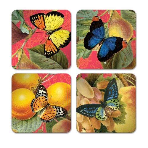 Studio Oh! Coasters, 12 Count, Bountiful Fruit ()