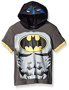 Warner Brothers Boys' Batman and Superman masked hoodie at Gotham City Store