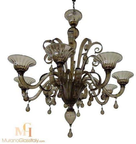 8 Arm Murano Glass Chandelier