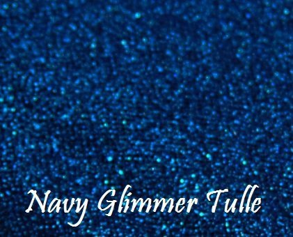 Wedding GLITTER Tulle Roll 6in x 30ft NAVY Sparkling Tulle (10 yards) - Blue Ribbon Coral