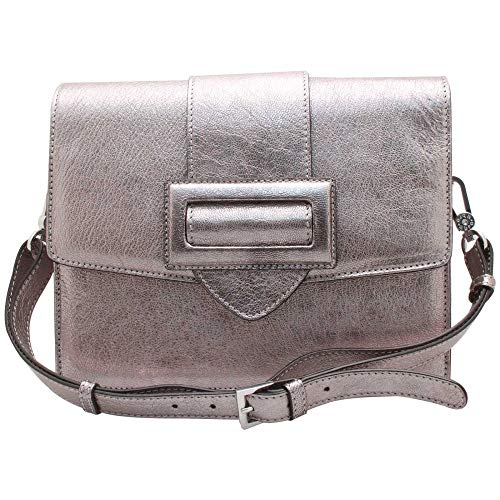Abro Buckle Fastening Messenger Pewter Style Handbag RRrnqxwZ7z