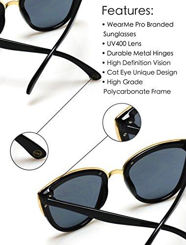Womens Cat Eye Mirrored Revo Reflective Lenses Oversized Cateyes Sunglasses (Box: Mirror Purple/Mirror Blue/Mirror Silver, 54) by WearMe Pro (Image #4)