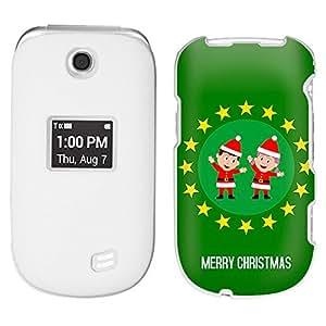 LG Revere 3 Christmas Elfs on Green Pattern Case