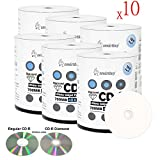 Smart Buy 6000 Pack Diamond CD-R 700mb 48x Printable White Blank Media Discs, 6000 Disc, 6000pk