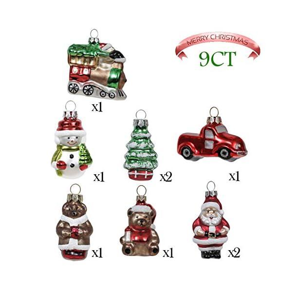 Valery Madelyn Palle di Natale Vetro Addobbi Natalizi Set, 9 Pezzi 5-7cm Classic Collection Red Green And White Palline di Natale Decoration for Addobbi Natalizi per Albero 3 spesavip