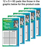 MiniPLOT Graph Paper: 60 pads of 3x3'' pre-printed Sticky Notes. Pads contain 50 sheets of releasable adhesive backed XY axis coordinate grid paper. Use for homework, taking notes in class.