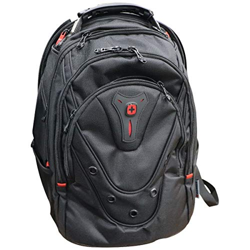 Wenger Update Black Ballistic Backpack for 15-inch Laptops - Black/Red (606547)