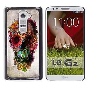 LOVE FOR LG G2 Skull Floral Deep Metal Spring Death Deep Personalized Design Custom DIY Case Cover