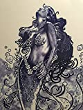 Decorative Ceramic Wall Art Tile Mermaid (F77) 8″x12″ with a hook in the back. Review