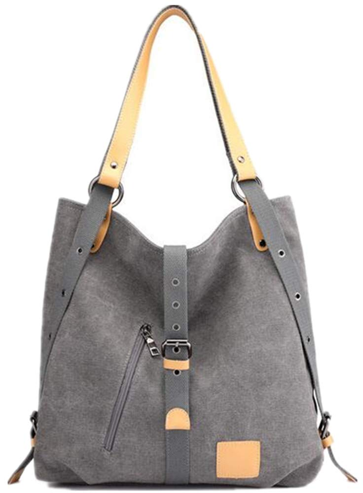Cheng fu zhang Damen Casual Multifunktions-Eimer Tasche schräg Canvas Bag