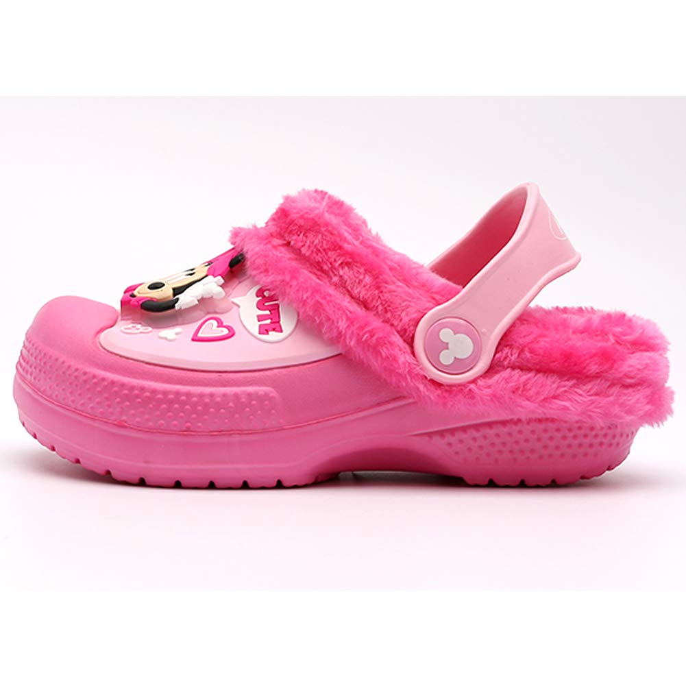 Parallel Import//Generic Product Joah Store Boys Girls Light Up Warm Fur Lined Clog Mule Characters EVA Shoes
