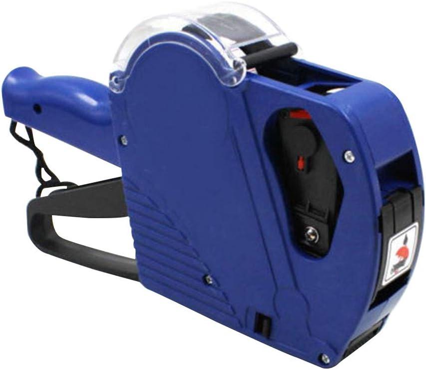 LIOOBO Etiquetadora Pistola de Precios máquina etiquetadora (Azul)