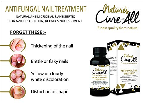Nature's Cure-All Antifungal Nail Fungus Treatment Solution (15ml) | Maximum Strength with Undecylenic Acid | 100% Natural & Safe | Kills Nail Fungus & Infections, Nourish Nails & Reverse Damage