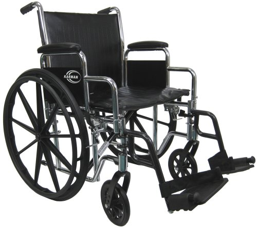 Karman Extra Wide Wheelchair with Heavy Duty Upholstery, 26 Inch Seat -