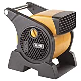 Lasko Pro-Performance High Velocity Utility Fan-Features Pivoting Blower and Built-in Outlets, Yellow 4900