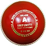 cm Infiniti Test Supreme - Grade A Cricket Ball, White Infiniti Test Supreme - Grade A Cricket Ball