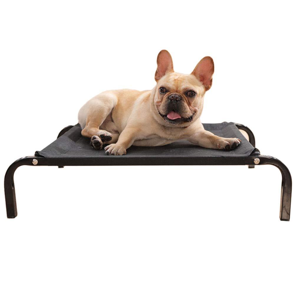 122×72×21cm LXLA Black Elevated Pet Bed Portable Waterproof Pet Basket for Indoor Outdoor (Size   122×72×21cm)