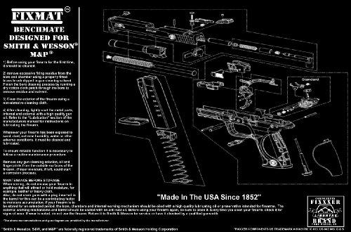 "FIXMat Displays S&W M&P diagram, 11"" X 17"" Handgun Cleaning"