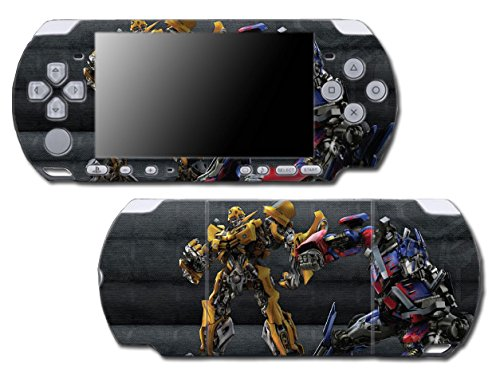 Transformers Optimus Prime Bumblebee Autobots Robots Video Game Vinyl Decal Skin Sticker Cover for Sony PSP Playstation Portable Slim 3000 Series System