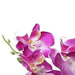 MyGift-Purple-Silk-Lady-Slipper-OrchidsDecorative-Artificial-Flower-Plant-wWhite-Ceramic-Square-Pot