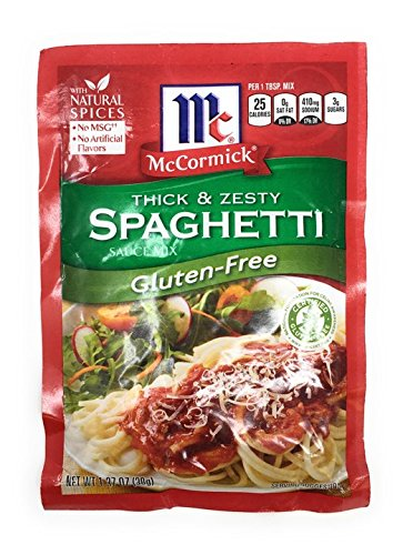 Mccormick Gluten Free Thick and Zesty Spaghetti Sauce Mix 1.37oz Packet (Pack of 3) (Gluten And Free Sauce Spaghetti)