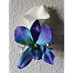 Peacock-Purple-Blue-Turquoise-Orchid-Calla-Lily-Corsage-or-Boutonniere