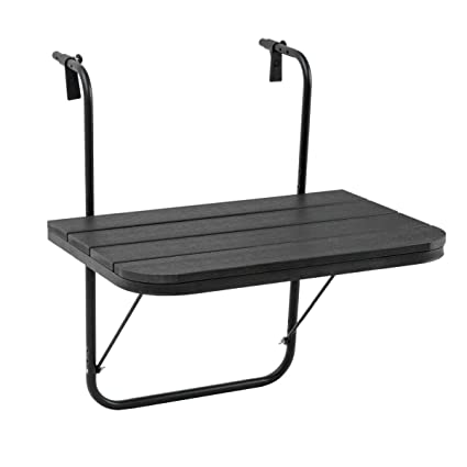 Deck Black Best Choice Products Portable Folding Hanging Compact Balcony Railing Table Serving Side Stand for Patio