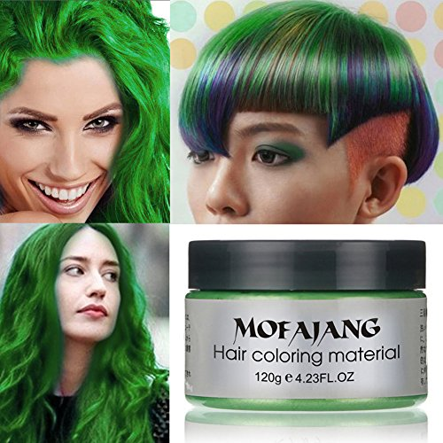 Sunsent 7 Colors Hair Care Hair Wax Matte Hairstyle Pomades (Green)