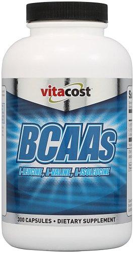 BCAA Vitacost L-leucine, L-valine, L-isoleucine - 2.400 mg par portion - 300 Capsules