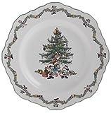 Spode Disney Christmas Tree 9-Inch Fluted Octagonal Buffet Plate