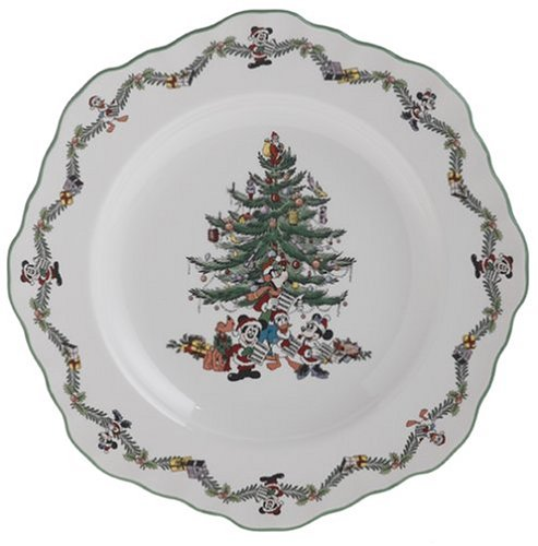 Spode Disney Christmas Tree 9-Inch Fluted Octagonal Buffet Plate