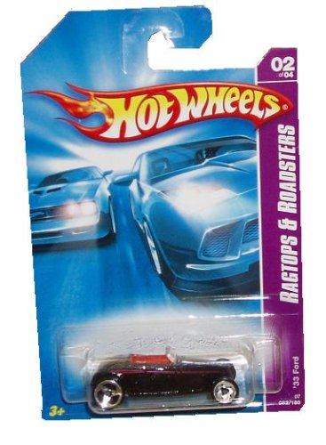 Mattel Hot Wheels 2006 Ragtops and Roadsters Series 1:64 Scale Die Cast Metal Car # 2 of 4 : Black Sport Coupe Model B 1933 Ford Roadsters