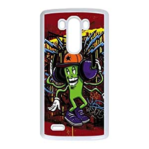 LG G3 Cell Phone Case White Mad Beats Graffiti OJ682783