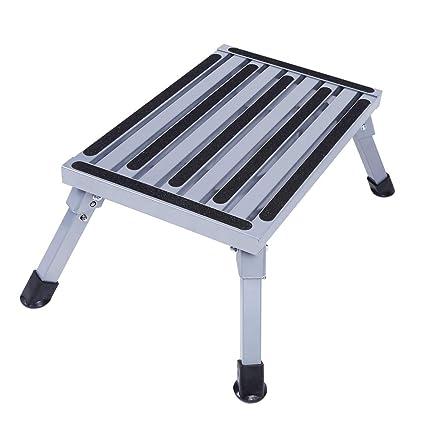 Phenomenal Amazon Com Aluminum Folding Platform Steps Portable Rv Step Inzonedesignstudio Interior Chair Design Inzonedesignstudiocom