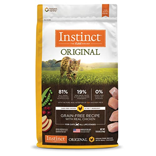 Instinct Original Grain Free Recipe With Real Chicken Natural Dry Cat Food By Nature'S Variety, 11 Lb. Bag ()