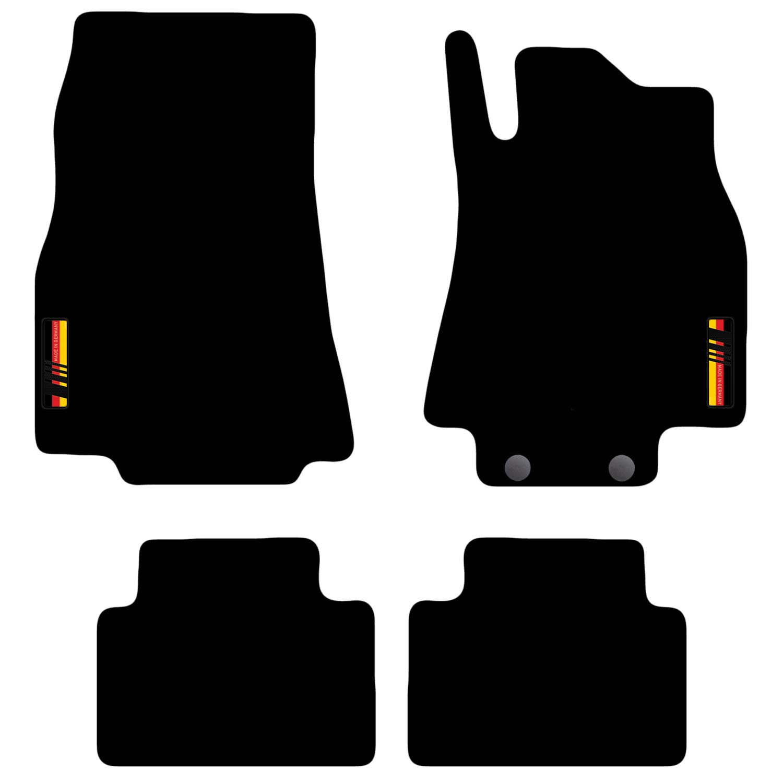 Skoda Superb 2015 onwards Tailored Carpet Car Floor Mats with logo 4 Clips