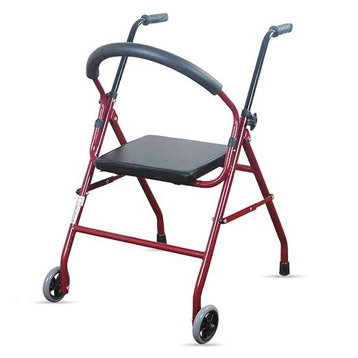 ZXXX El Andador para Ancianos se Puede Plegar fácilmente ...