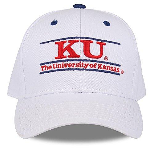 NCAA Kansas Jayhawks Unisex NCAA The Game bar Design Hat, White, Adjustable