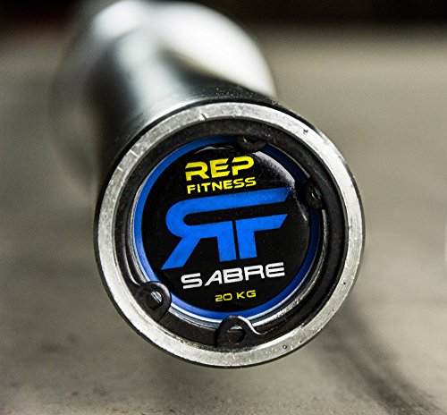 Rep Sabre Olympic Bar 1000 lb Rated Barbell for Cross Training, Olympic Weightlifting, and Power Lifting