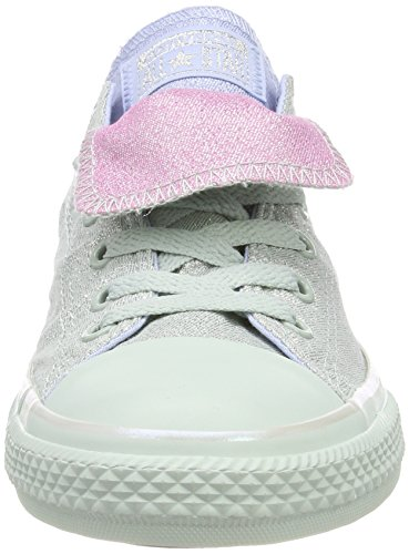 Converse Ctas Double Tongue OX Dried Bamboo, Zapatillas Unisex Niños Mehrfarbig (DRIED Bamboo/Blue Chill/Light Orchid)