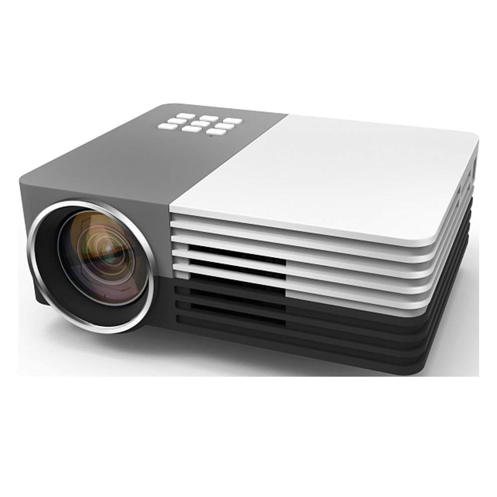 Meer LED Portable Home Cinema Projector, 600 Lumens 1080P supported Projector with Speakers for Outdoor Indoor Movie Night, TV, Laptop Game, SD, iPad iPhone Android Smartphone