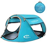 G4Free Pop Up Tent Beach Cabana Instant Backpacking Sun Shelter Water Resistant Camping Cabin Tent Automatic Setup Beach Tents Anti-UV Ventilation for 2-3 person(Lake Blue) Review