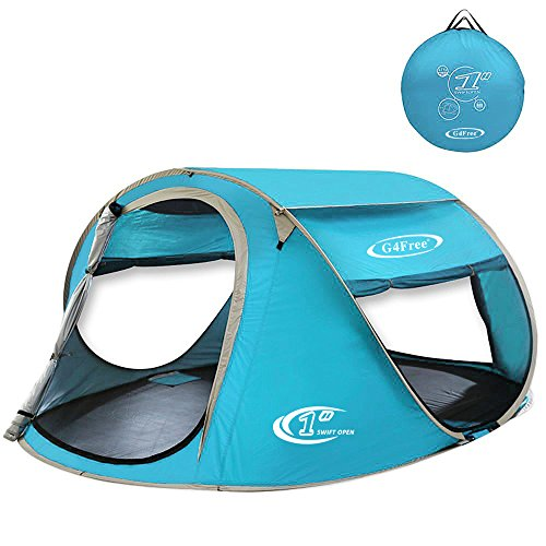 G4Free Pop Up Tent 3-4 Person (Lake Blue)