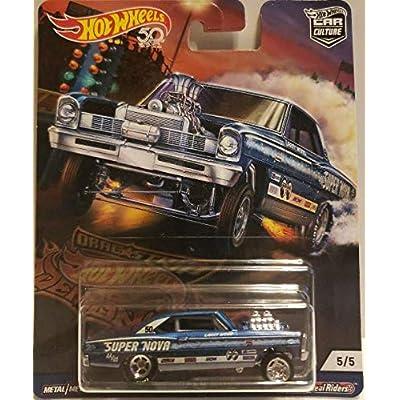 Hot Wheels Car Culture '66 Chevy Super Nova, Blue: Toys & Games