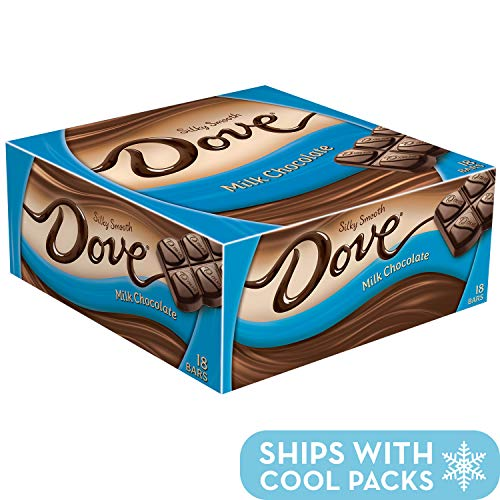 Dove Milk Chocolate Singles Size Candy Bar 1.44-Ounce Bar 18-Count Box ()