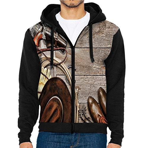 - 3D Printed Hoodie Sweatshirts,Weathered Wood Planks Revolver,Hoodie Casual Pocket Sweatshirt