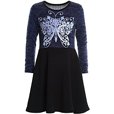BEZLIT Mädchen Kleid Peticoat Fest Kleid Langarm 20753