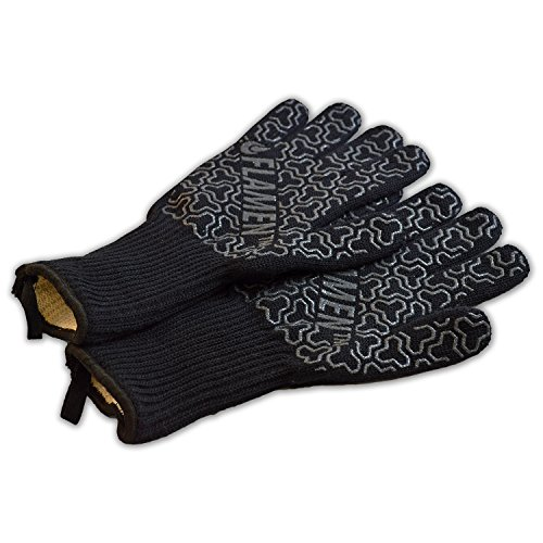 Extended-Cuff Kevlar BBQ and Fireplace Glove, Fireproof, Heat ...